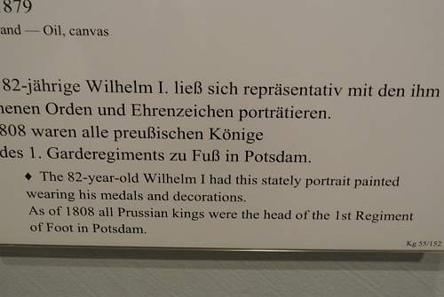 Koenig Wilhelm 1 picture in full dress uniform.