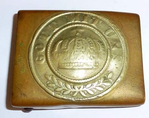 Preussian 1870/71 buckle