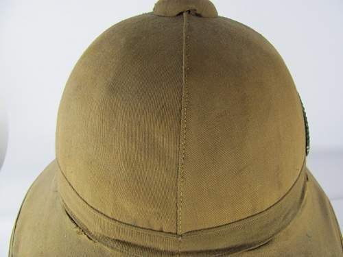 Pith Helmet WW1, Tropenhelm, need help