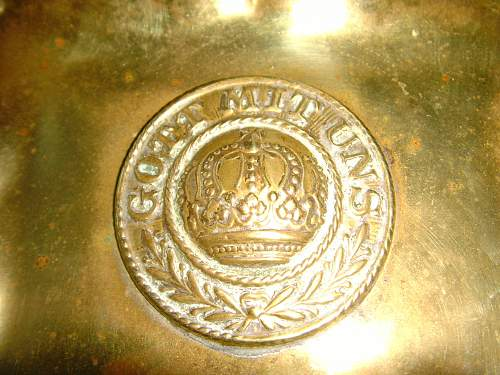 Trench Art Prussian Belt Buckle Ashtray