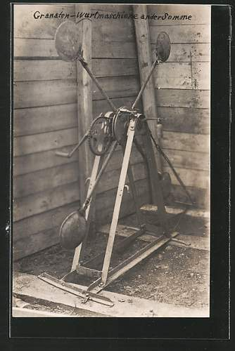 Bizarre German Grenade-Throwing-Contraption, Somme