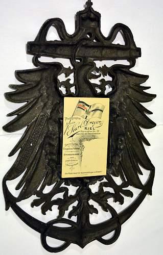 Kaiserliche Marine Patriotic Picture Frame.