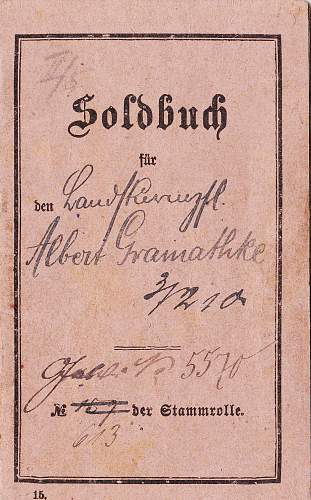 Soldbuch and more