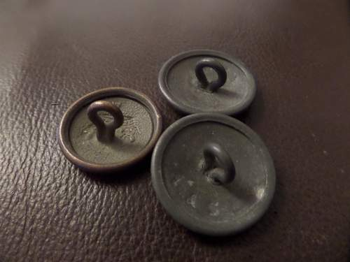Imperial German buttons flea market finds