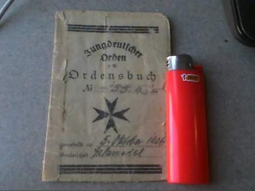 Jungdeutscher Orden Membership Booklet