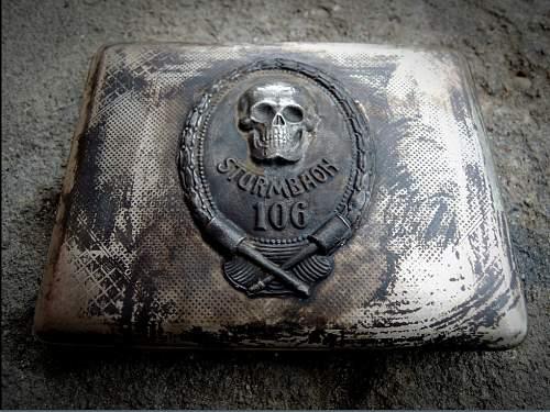 PLease, an advice related to a Sturmbaon WW1 cigarette case