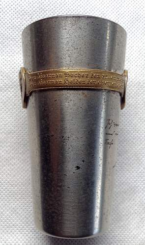 """WW1 Imperial German Patriotic War Cup """"the iron heros of the iron time"""""""