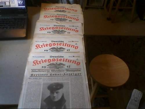 Kriegs-Zeitungen/War-Newspapers...