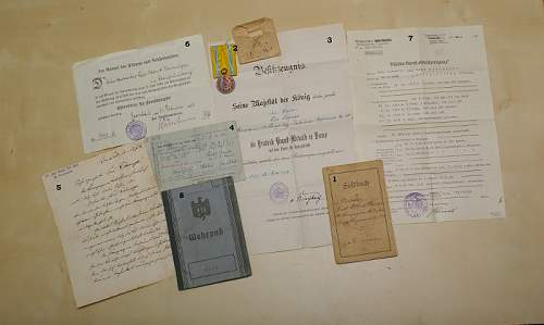 Collection of papers of a German prisoner of war