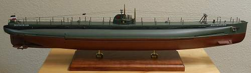 Cargo Submarine U-Deutschland Artifacts and Model