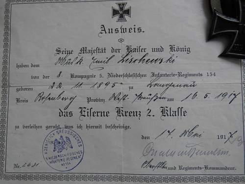 Iron cross document
