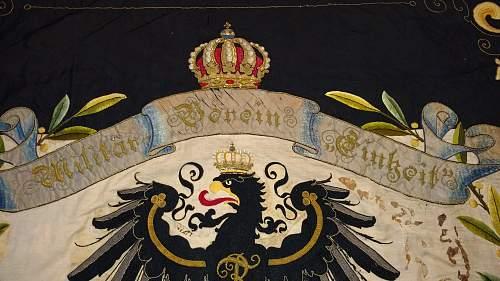 Stunning Prussian Veterans Flag 1900