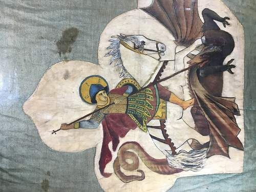 Other Fantastic Imperial Russian Painted Silk St George Flag for info