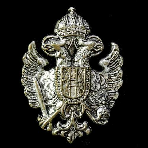 Imperial Russian Army Officer's Cap Badge ww1?