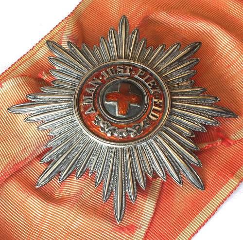 Order of Saint Anne, I Class Grand Cross Star.