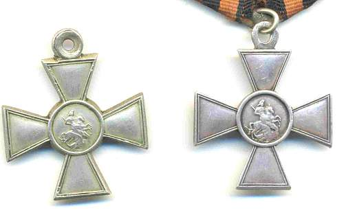 Different types of St. George Crosses