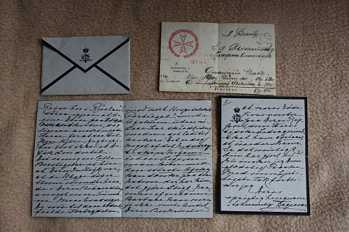My small Imperial Russian collection. (kindjal, bebut, bayo and letter written by Maria Feodorovna)