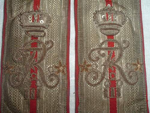 A nice pair of Imperial Russian SHoulder Boards