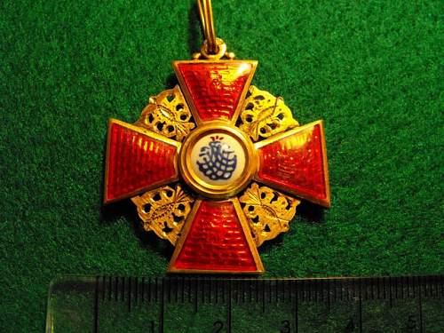 Order St Anne Medal - original?