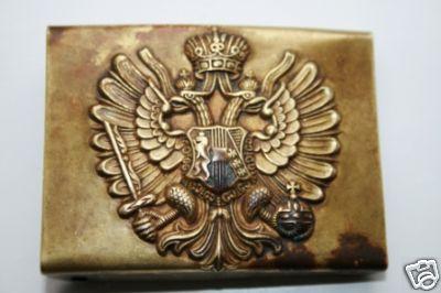 Imperial Russian belt buckle - original ?