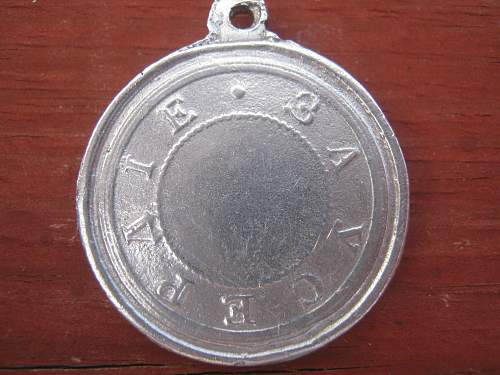 Russian Imperial silver medal for zeal Nicolas 1