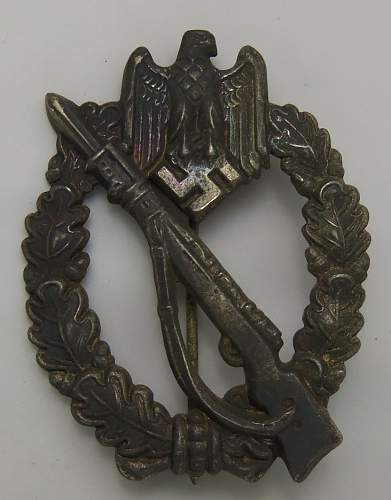 Infanterie Sturmabzeichen in Silber-Semi Hollow