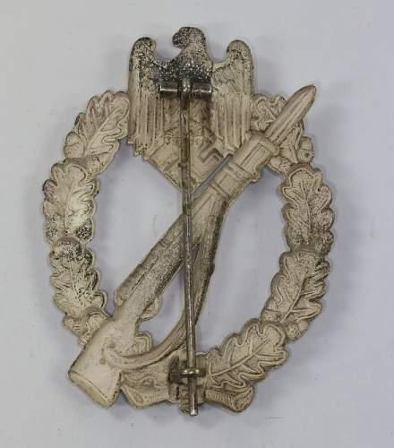 Infanterie Sturmabzeichen - Otto Schickle (Pforzheim) in Tombak / Buntmetall