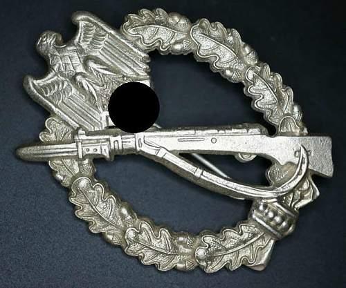 Infanterie Sturmabzeichen in silver R.S.S