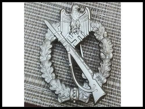 IAB  (Infanterie-Sturmabzeichen ) RS Post War Copy?