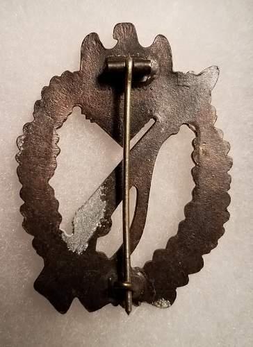 Infanterie Sturmabzeichen* ShuCo zinc