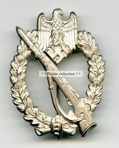 Infantrie Sturmabzeichen in Silber, William Hobacher.