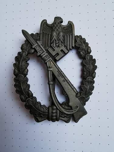 Infanterie Sturmabzeichen in Bronze Fritz Zimmermann