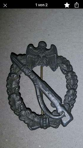 Is this a real Infanterie-Sturmabzeichen
