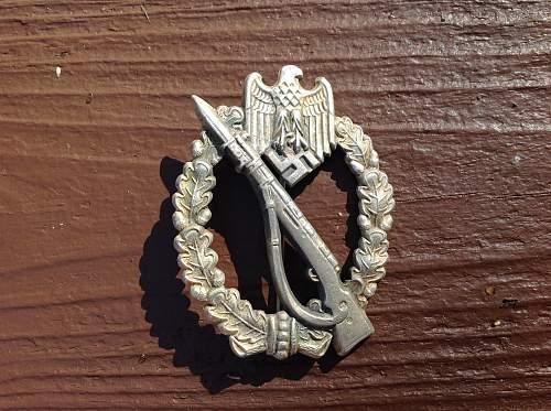 Infanterie Sturmabzeichen Silber GWL