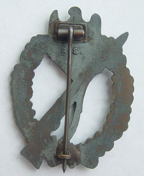"""Infanterie sturmabzeichen in Bronze by """"RS"""""""