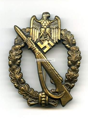 Infanterie Sturmabzeichen question.