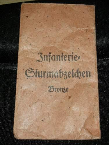 3 Infanterie Sturmabzeichen.