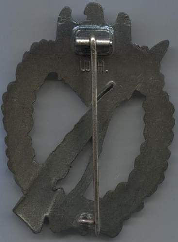 Two Infanterie Sturmabzeichen.