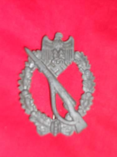Infantrie Sturmabzeichen/Infantry Assault badge & Waffenrock Cord