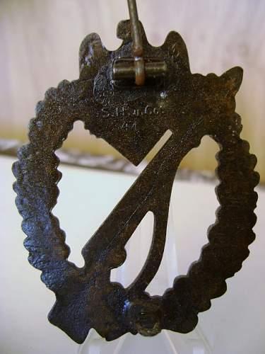 SHuCo 41 Infanterie Sturmabzeichen bronze