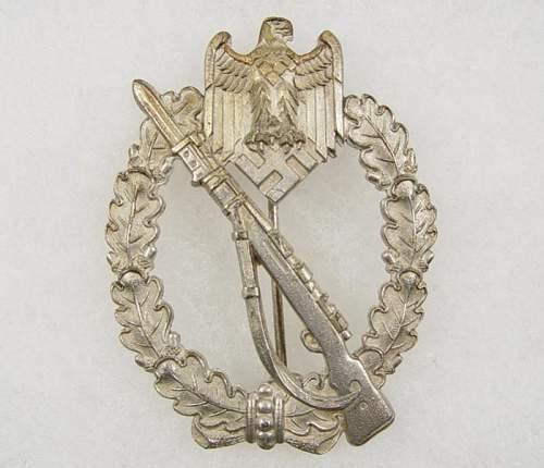 Infanterie Sturmabzeichen in Silber, Deschler & Sohne, Munchen