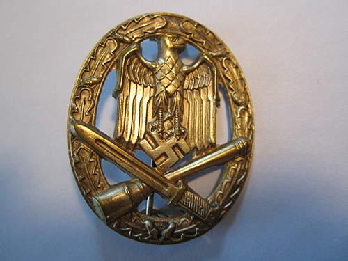 Allgemeine Sturmabzeichen and Infanterie Sturmabzeichen for review.
