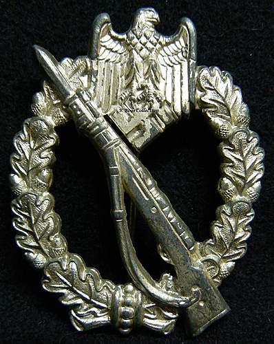 Infanterie Sturmabzeichen in Silber, WH, Wilhelm Hobacher