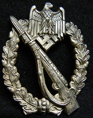 Infanterie Sturmabzeichen in Silber, HA, Hermann Aurich