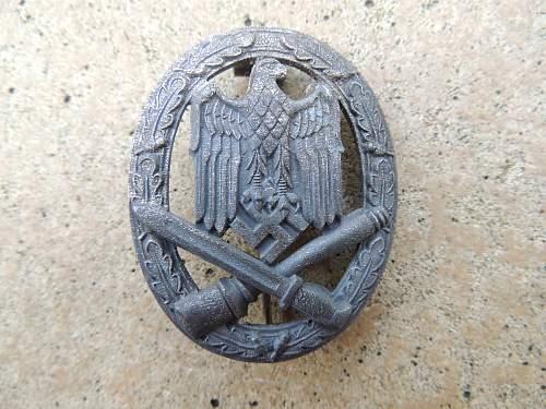 Infanterie Sturmabzeichen, Allgemeines Sturmabzeichen, Deutsches Schutzwall-Ehrenzeichen.