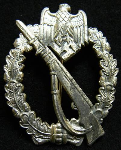 Infanterie Sturmabzeichen in Silber, FZS, Fritz Zimmermann, Stuttgart