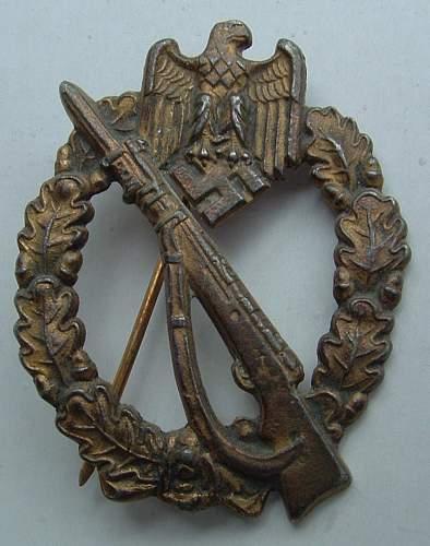 Silver & Bronze Infanterie Sturmabzeichen