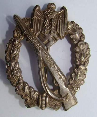 Infanterie Sturmabzeichen marked Assmann.