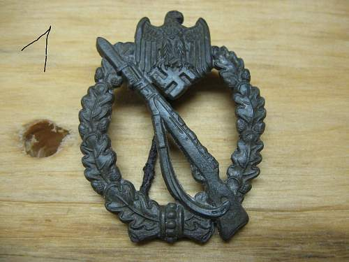Ground dug Infanterie Sturmabzeichen.