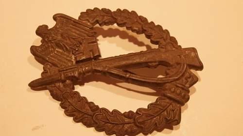 Infanterie Sturm Abzeichen.